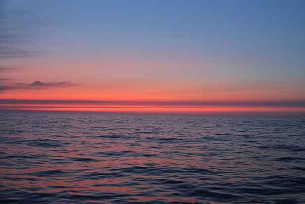 Закат в Чукотском море