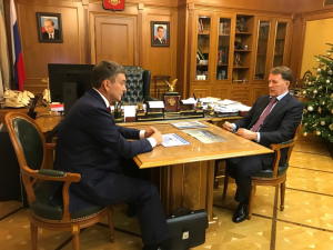 Alexey Gordeev held a working meeting with the Director of the Russian Federal research Institute of fisheries and Oceanography Kirill Kolonchin